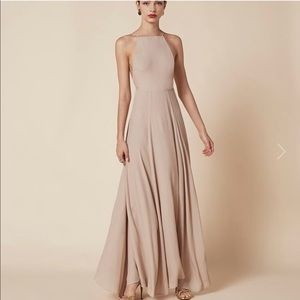 Reformation nude colored Frossen gown 8